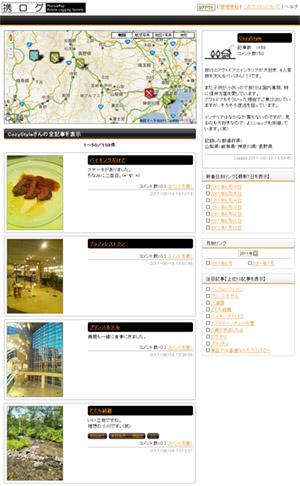 ユーザー個別ページ初期画面のイメージ画像